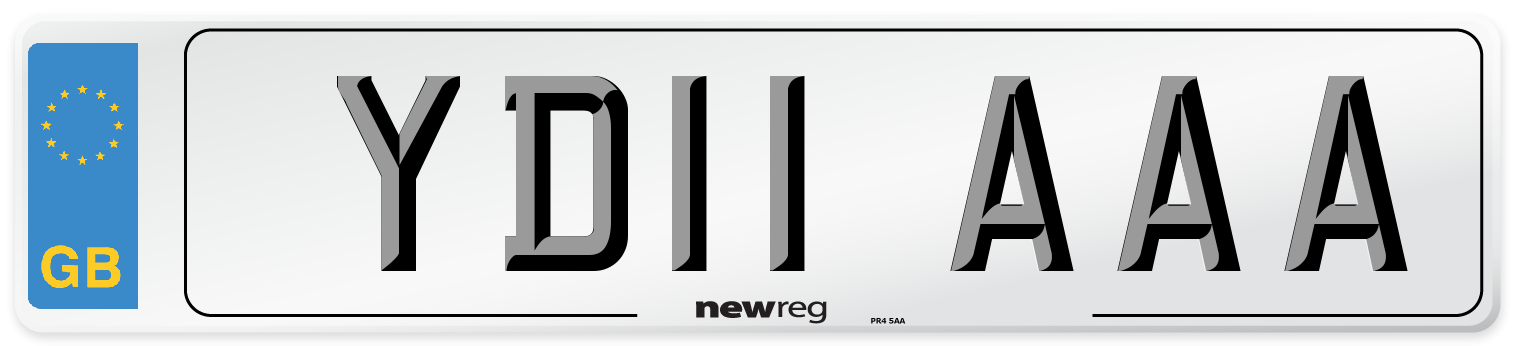 YD11 AAA Number Plate from New Reg