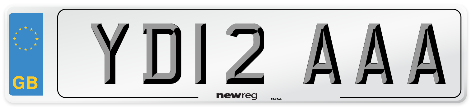 YD12 AAA Number Plate from New Reg