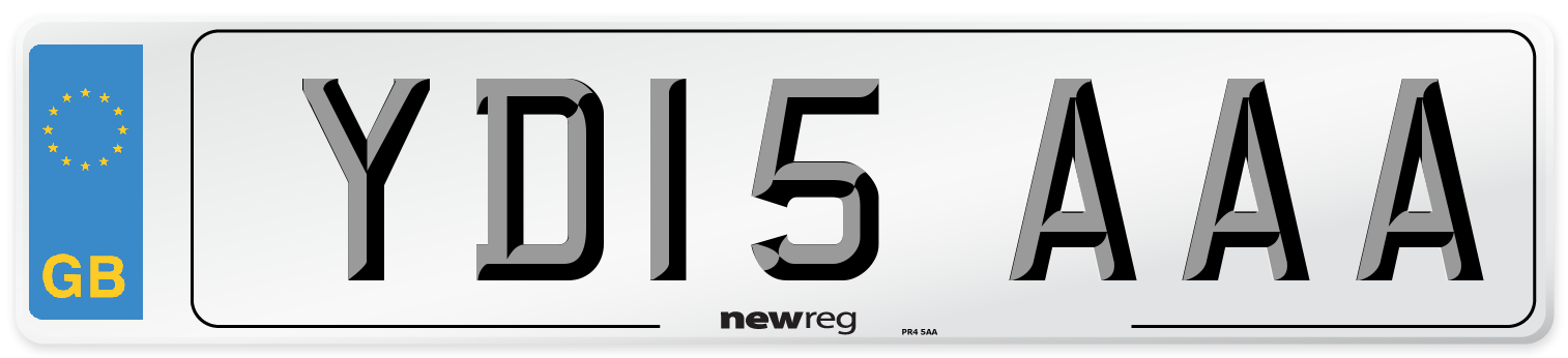 YD15 AAA Number Plate from New Reg