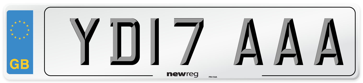 YD17 AAA Number Plate from New Reg