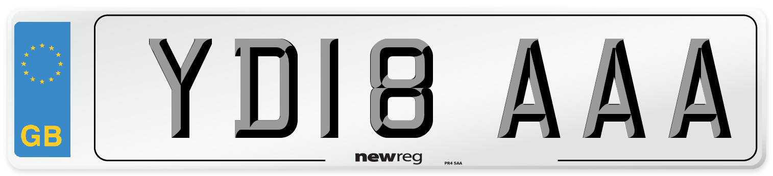 YD18 AAA Number Plate from New Reg