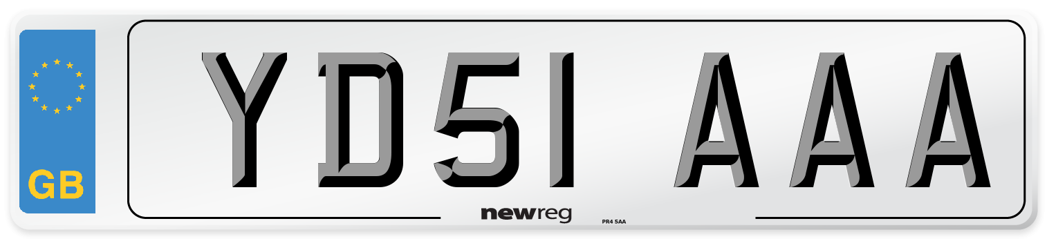 YD51 AAA Number Plate from New Reg
