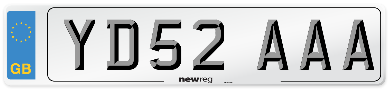 YD52 AAA Number Plate from New Reg