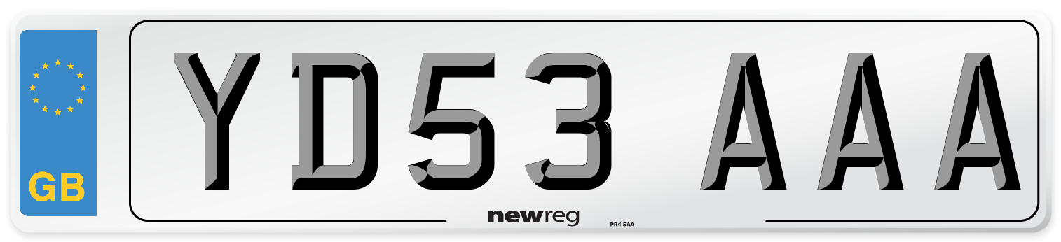 YD53 AAA Number Plate from New Reg