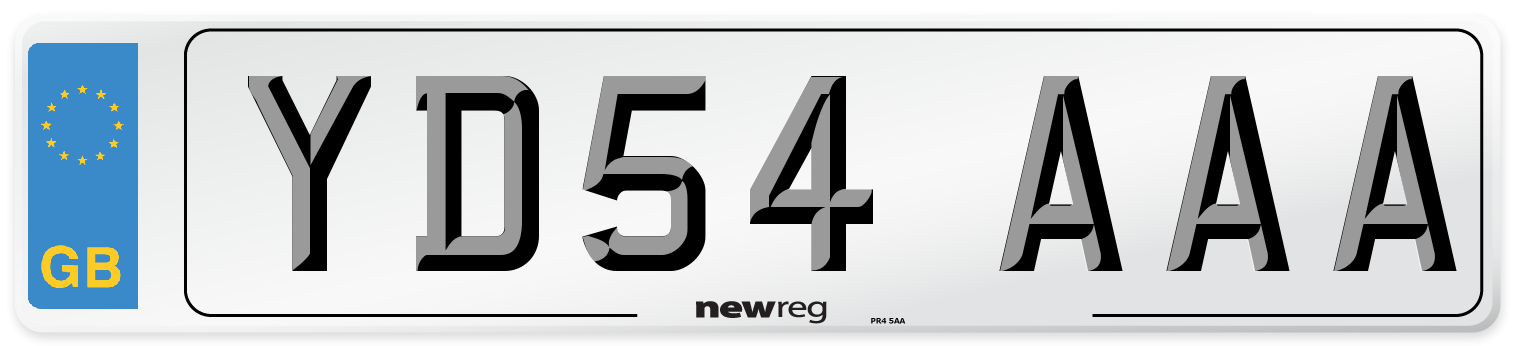 YD54 AAA Number Plate from New Reg