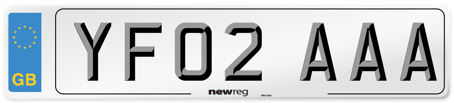 YF02 AAA Number Plate from New Reg