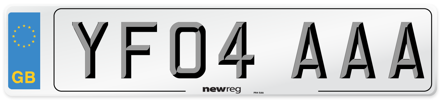 YF04 AAA Number Plate from New Reg