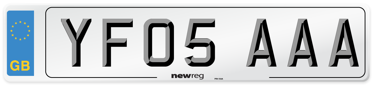 YF05 AAA Number Plate from New Reg