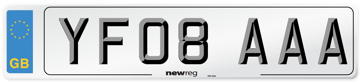 YF08 AAA Number Plate from New Reg