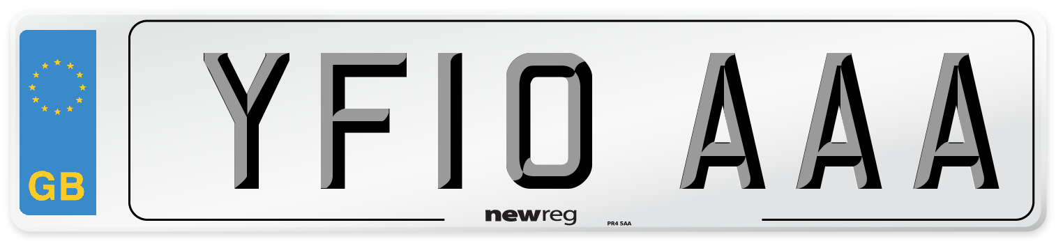 YF10 AAA Number Plate from New Reg
