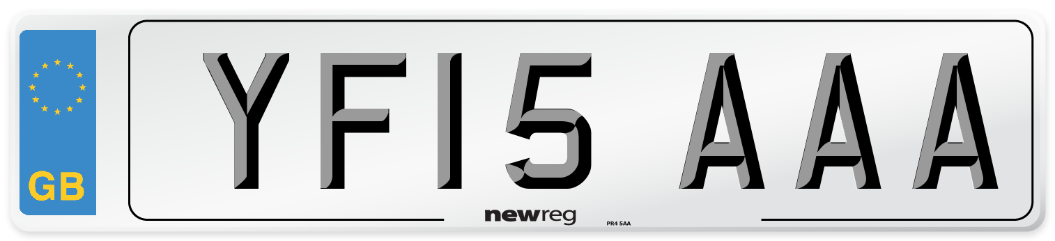 YF15 AAA Number Plate from New Reg