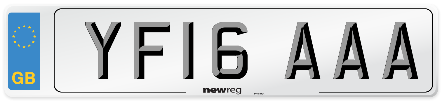 YF16 AAA Number Plate from New Reg