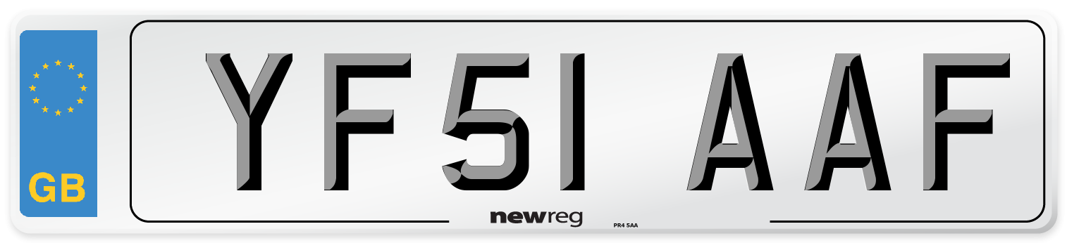 YF51 AAF Number Plate from New Reg