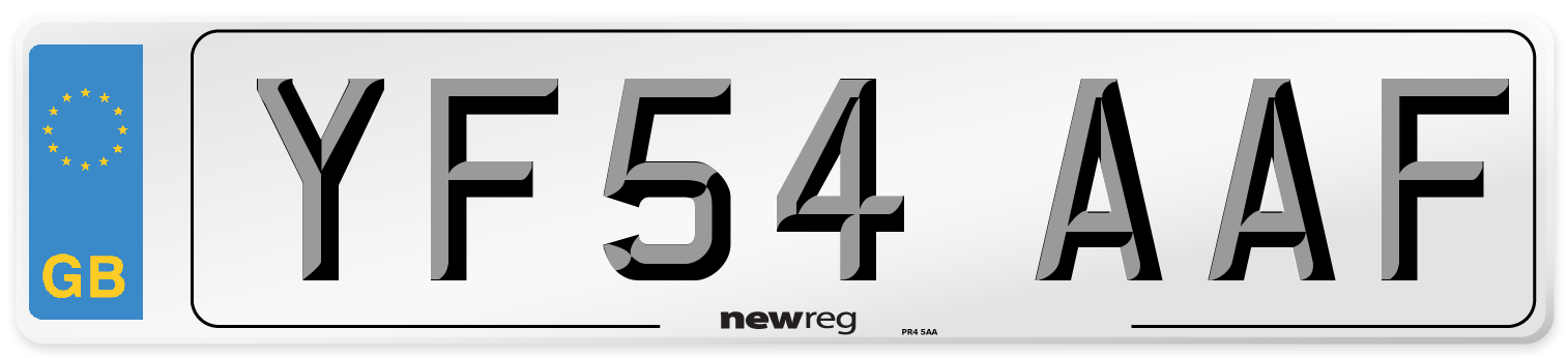 YF54 AAF Number Plate from New Reg