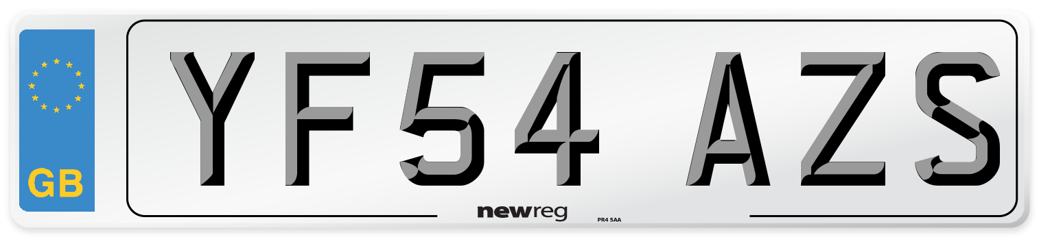 YF54 AZS Number Plate from New Reg