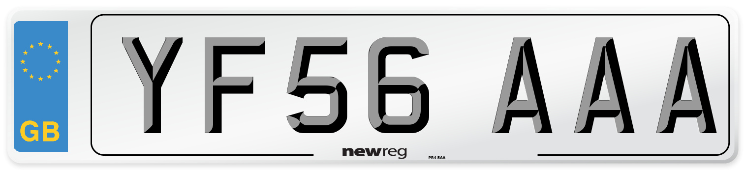 YF56 AAA Number Plate from New Reg