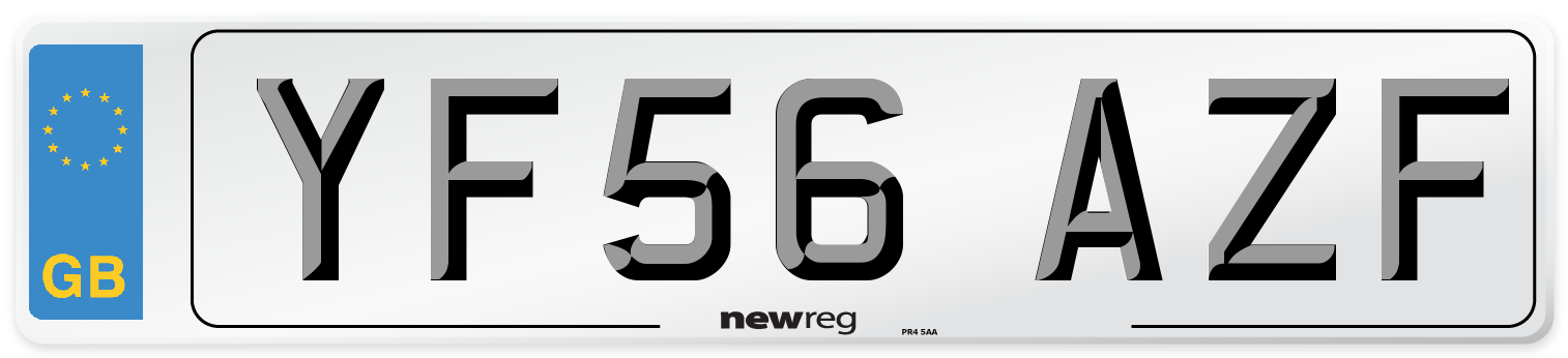 YF56 AZF Number Plate from New Reg