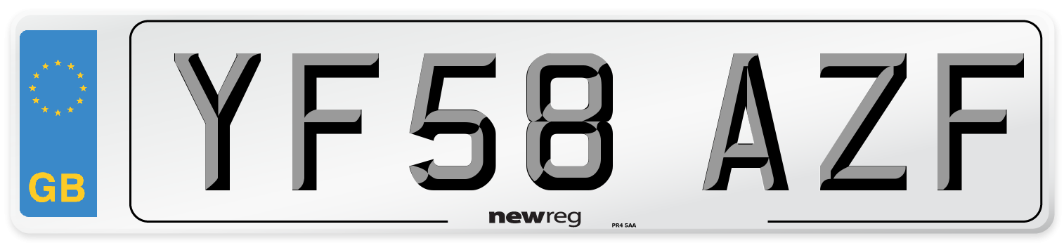YF58 AZF Number Plate from New Reg