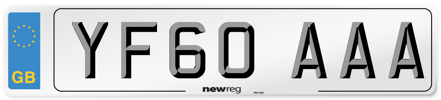 YF60 AAA Number Plate from New Reg