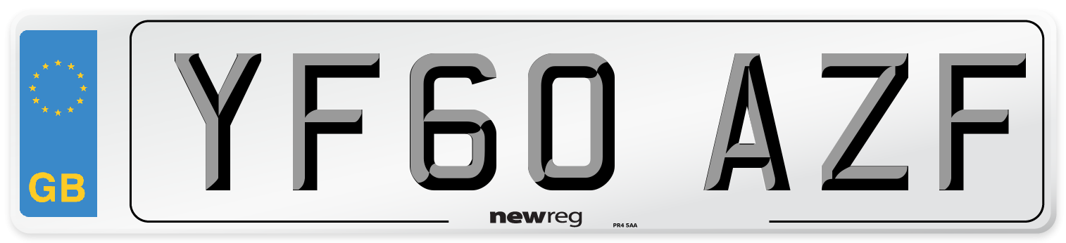 YF60 AZF Number Plate from New Reg
