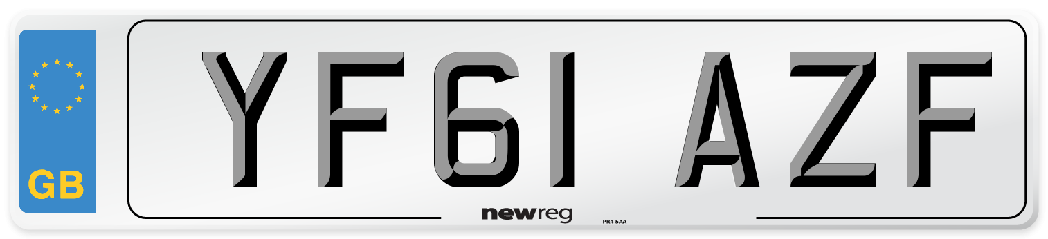 YF61 AZF Number Plate from New Reg