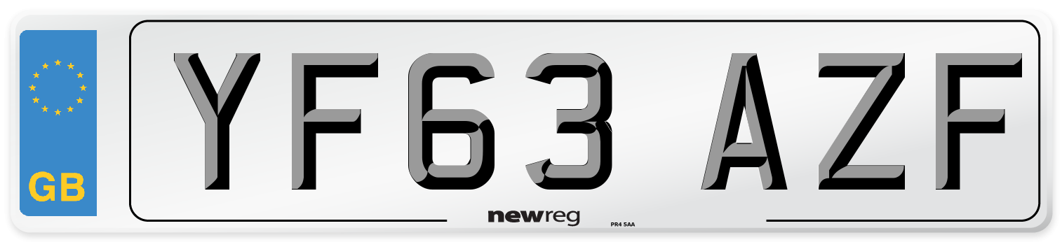 YF63 AZF Number Plate from New Reg