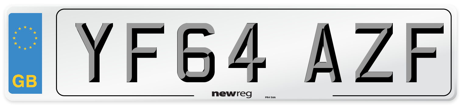 YF64 AZF Number Plate from New Reg