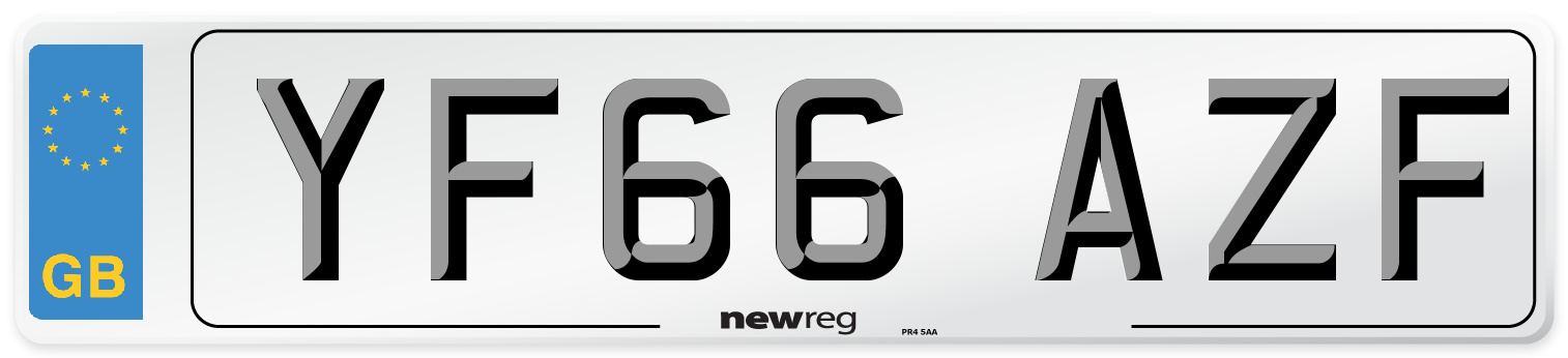 YF66 AZF Number Plate from New Reg