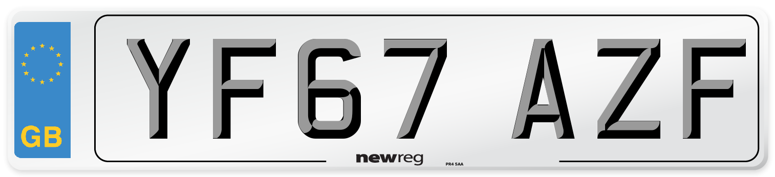 YF67 AZF Number Plate from New Reg