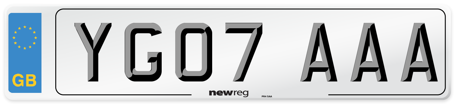 YG07 AAA Number Plate from New Reg