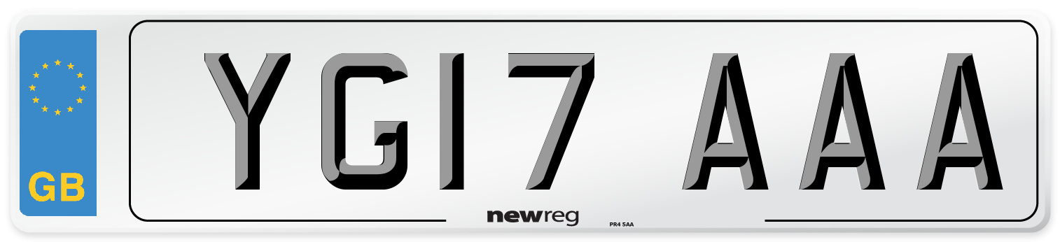 YG17 AAA Number Plate from New Reg