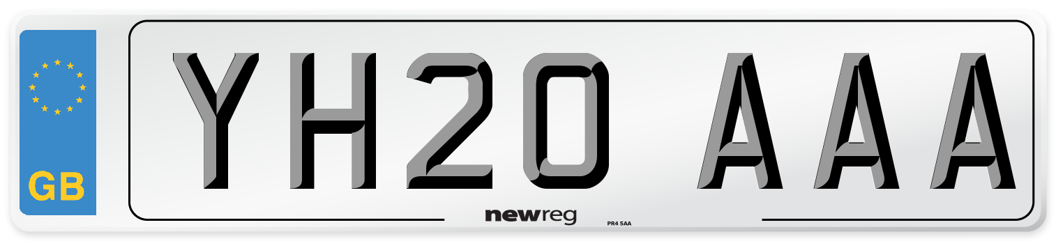 YH20 AAA Number Plate from New Reg