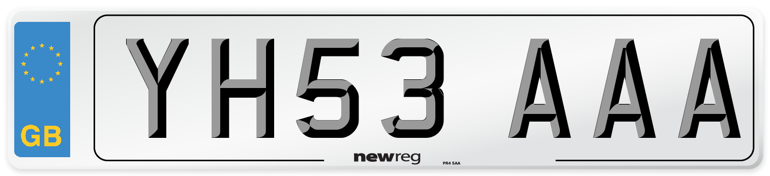 YH53 AAA Number Plate from New Reg