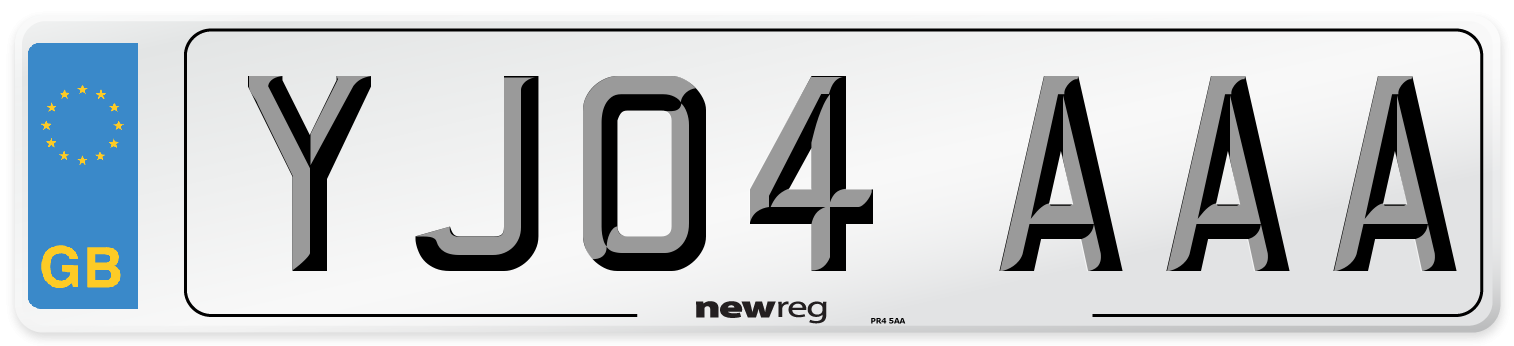 YJ04 AAA Number Plate from New Reg