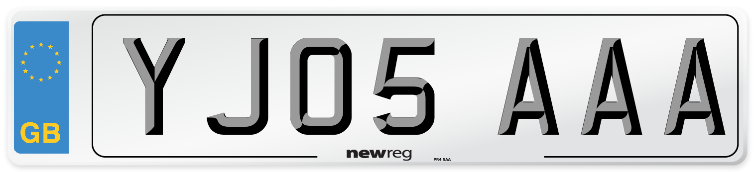 YJ05 AAA Number Plate from New Reg