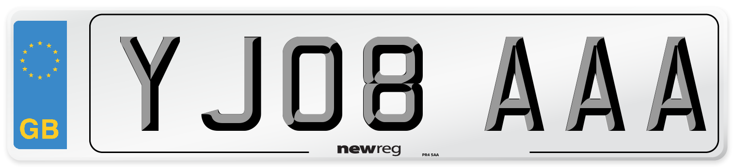 YJ08 AAA Number Plate from New Reg