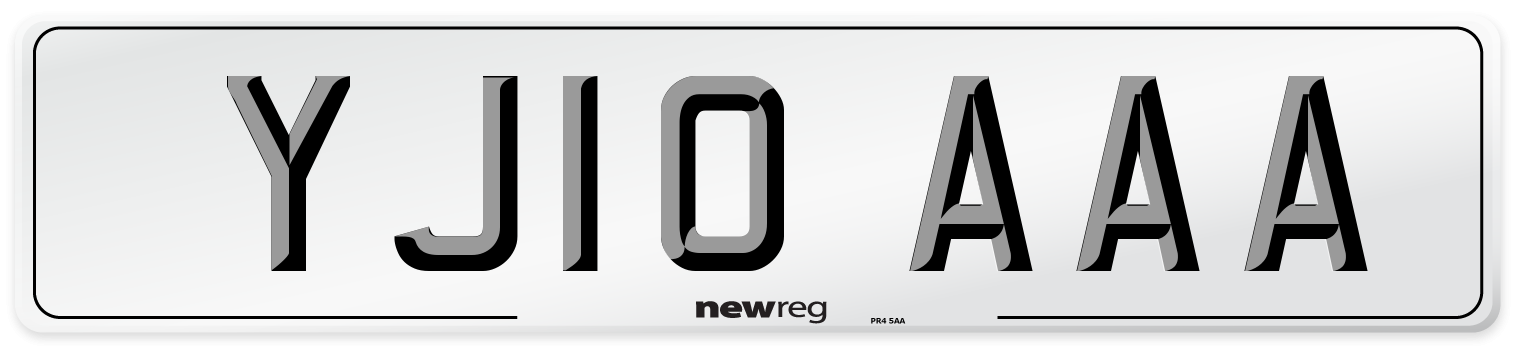 YJ10 AAA Number Plate from New Reg