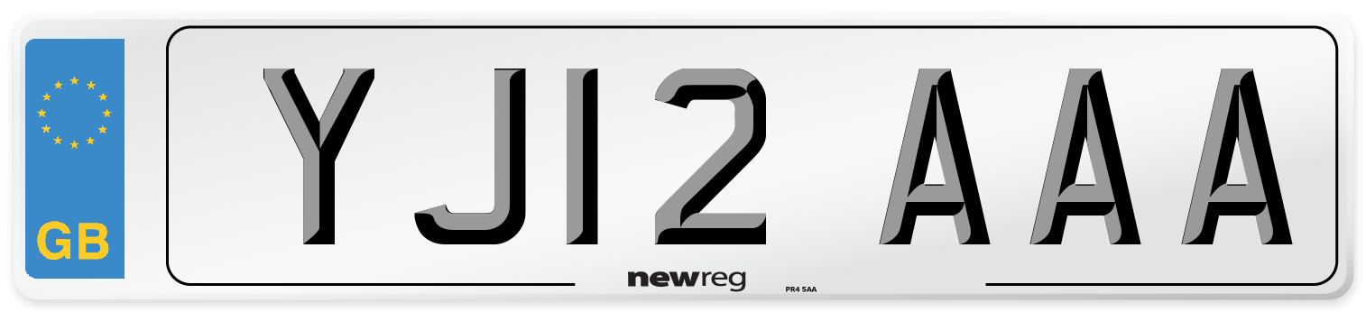 YJ12 AAA Number Plate from New Reg