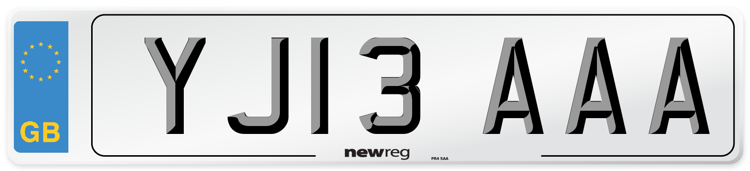 YJ13 AAA Number Plate from New Reg