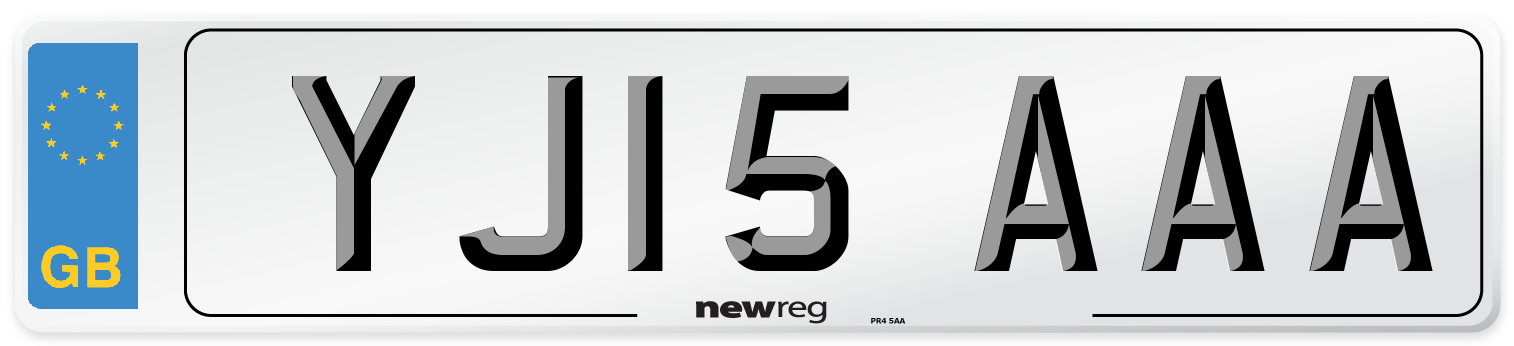 YJ15 AAA Number Plate from New Reg