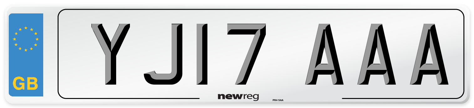 YJ17 AAA Number Plate from New Reg