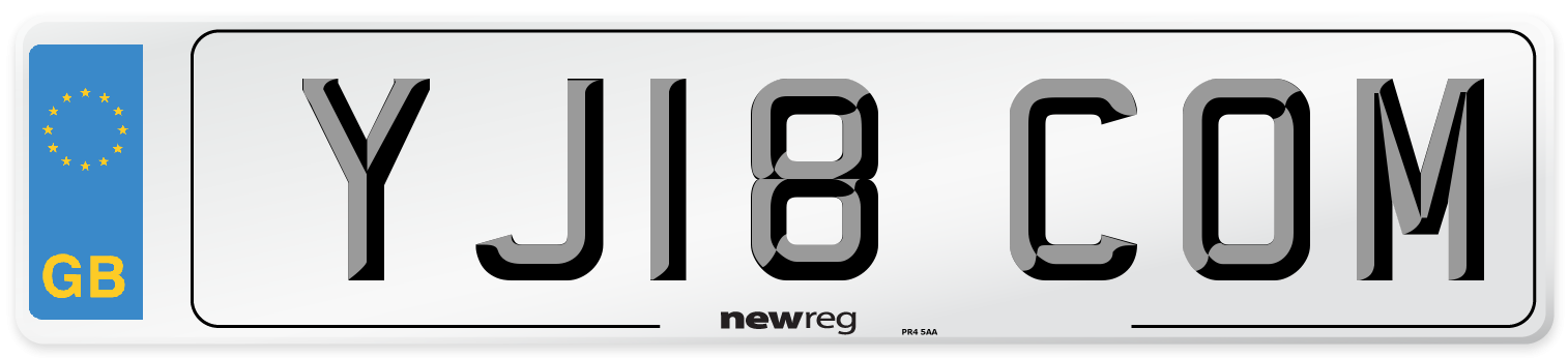 YJ18 COM Number Plate from New Reg