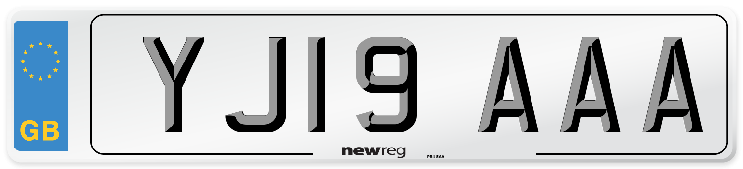 YJ19 AAA Number Plate from New Reg