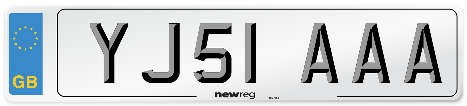 YJ51 AAA Number Plate from New Reg