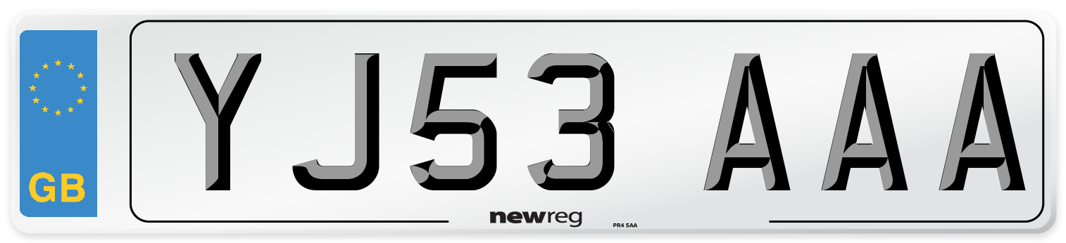 YJ53 AAA Number Plate from New Reg