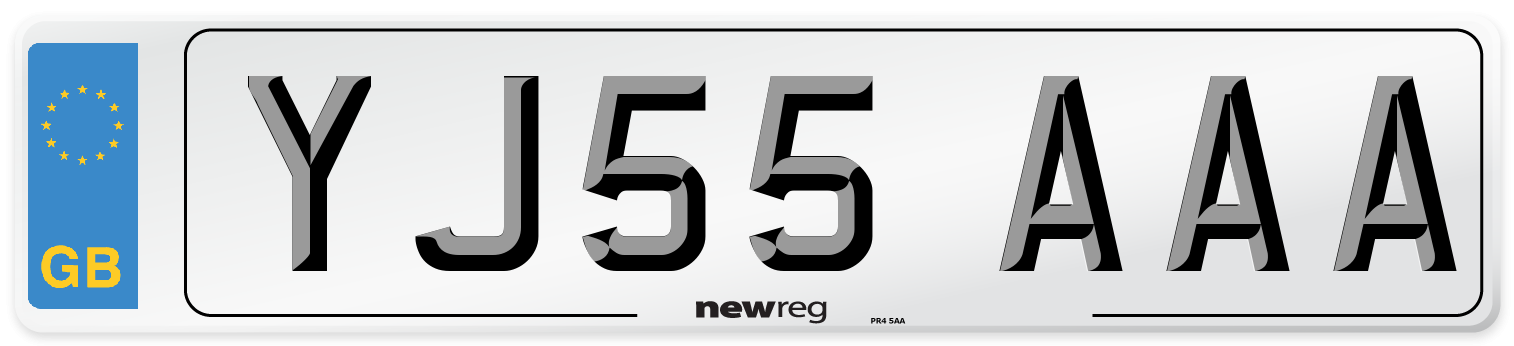 YJ55 AAA Number Plate from New Reg