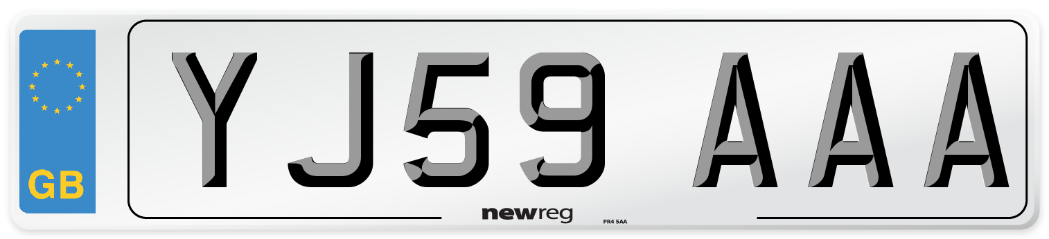 YJ59 AAA Number Plate from New Reg