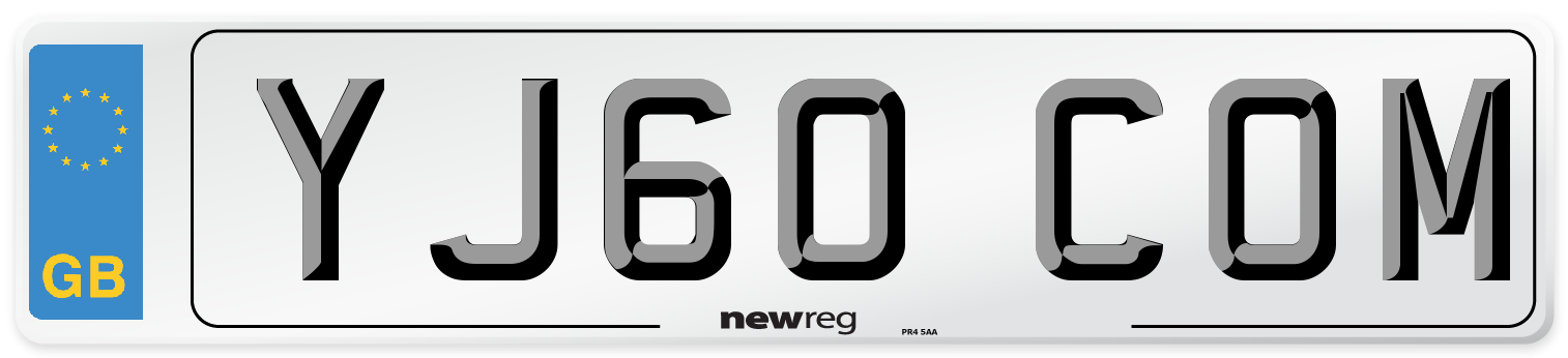 YJ60 COM Number Plate from New Reg