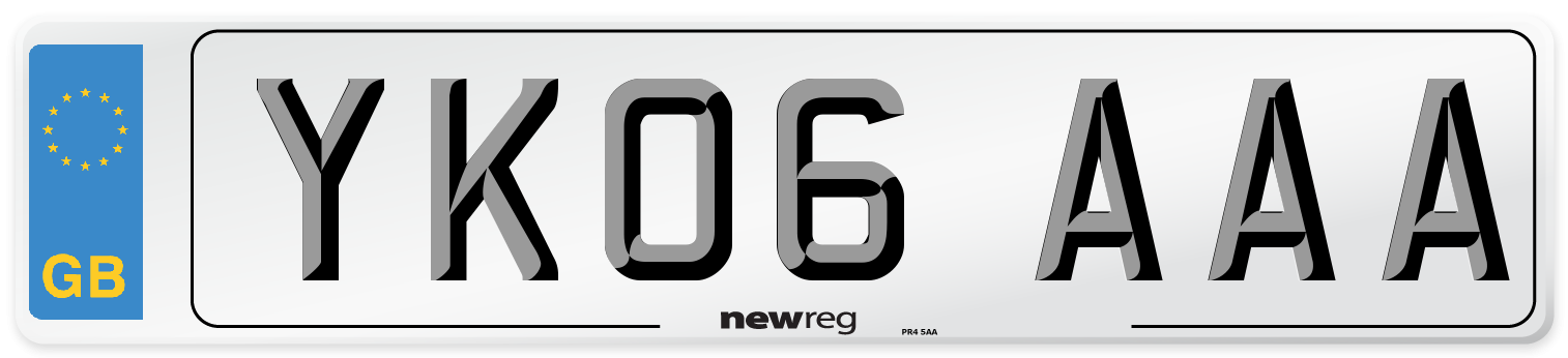 YK06 AAA Number Plate from New Reg