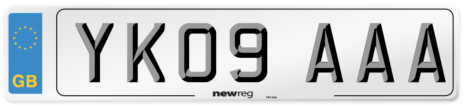 YK09 AAA Number Plate from New Reg